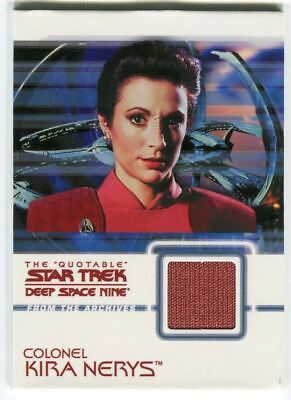 Star Trek Quotable Deep Space Nine DS9 Colonel Kira Nerys C2 Costume Card