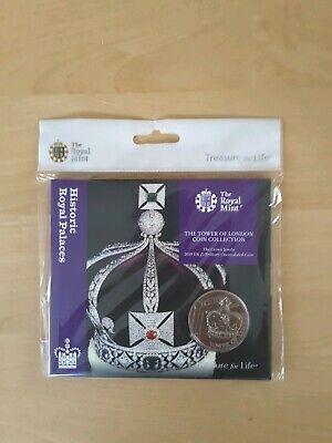 2019 THE TOWER OF LONDON £5 FIVE POUND COIN THE CROWN JEWEL BU Royal Mint Pack
