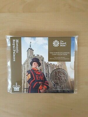 2019 THE TOWER OF LONDON £5 FIVE POUND COIN The YEOMAN WARDER BU Royal Mint Pack