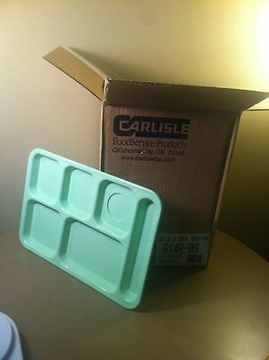 (CASE OF 24) Carlisle  614R-09 Lunch Cafeteria School Trays GREEN NEW IN BOX