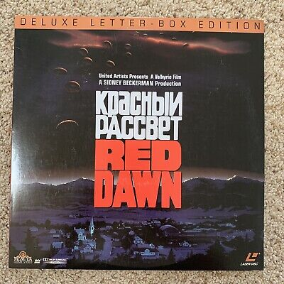 Red Dawn LETTERBOX Laserdisc - Charlie Sheen - VERY RARE VERSION