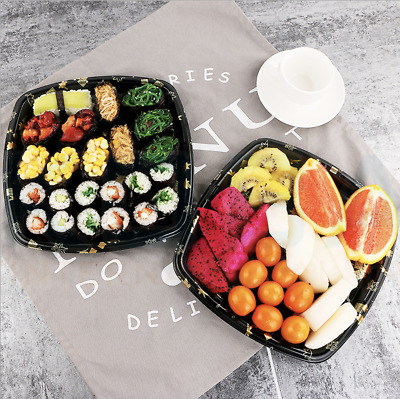 20PCS Takeaway Sushi Tray / Box With Lids Lunch box party (295mm x 295mm x 25mm)