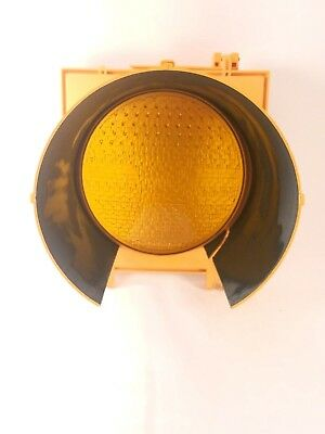 YELLOW Traffic Signal Light Lens Cover for Caution or School Zone Light