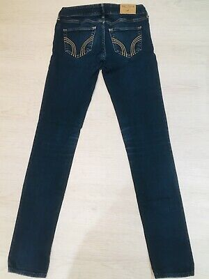 *.HOLLISTER * SKINNY FIT * Womens Girls *QUALITY BLUE CASUAL DENIM JEANS W25 L31