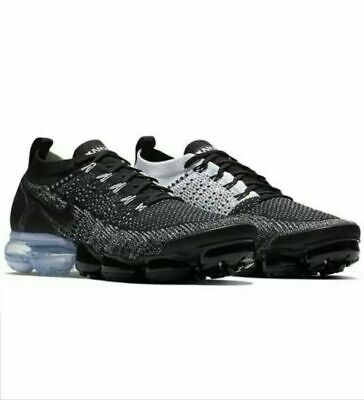 NEW Sz 11.5 Men's Nike Air Vapormax Flyknit 2 Orca Black White 942842-016