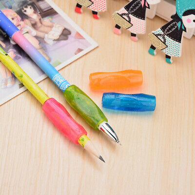 4pcs Glitter Pencil Grips Silicone Universal Pencil Holder Writing Aids for Kids