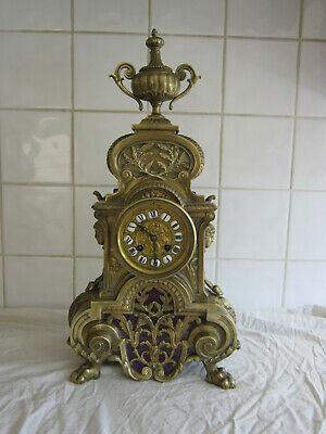 Fine Large Brass French Bell Chime Clock –Circa 1880