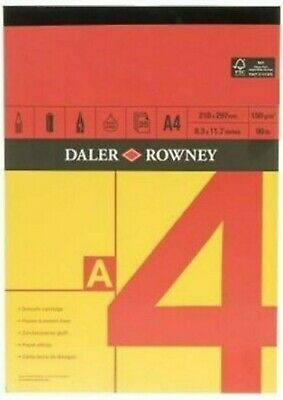 A4 Daler Rowney Red And Yellow Gummed Pad 150gsm