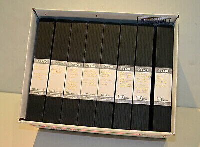 Lot of 8 TDK HD-X Pro T-120 VHS Videotapes in Plastic Cases -- USED ONCE