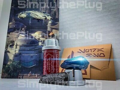 Star Wars Galaxy's Edge Black Kyber Crystal with Metal Spira & Exclusive Map