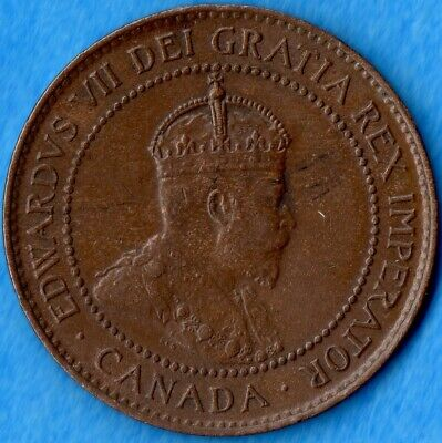 Canada 1905 1 Cent One Large Cent Coin - AU