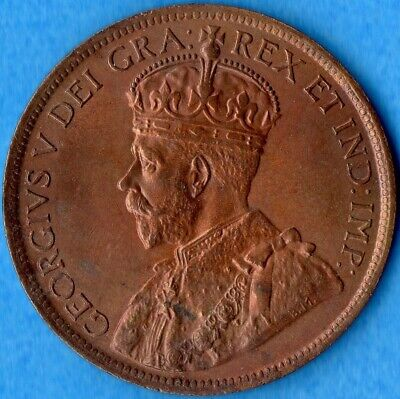 Canada 1916 1 Cent One Large Cent Coin - Uncirculated