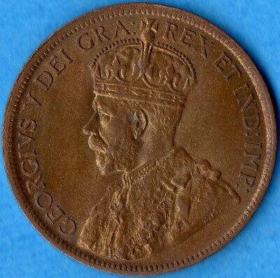 Canada 1916 1 Cent One Large Cent Coin - Uncirculated+