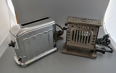 2 Antique Toasters - Toastmaster Single Slice 1A4 & Bersted 2 Drop Sides #07471