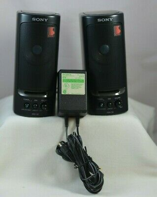 Vintage Sony Srs-58 Powered Walkman Discman Speakers Tested Fast Shipping