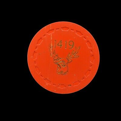Poker Chip Elks Lodge Ontario CA BPOE 1419 Red TR King Small Crown Scrown 50¢
