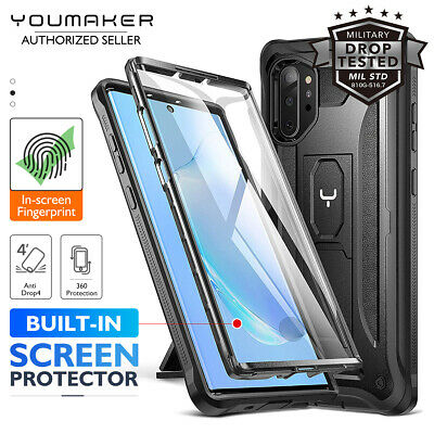 YOUMAKER Galaxy Note 10 Plus 5G HEAVY DUTY Shockproof KickStand Case Cover
