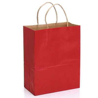 10Pcs Bright Paper Party Bags Gift Bag With Handles Recyclable Birthday Loot Bag