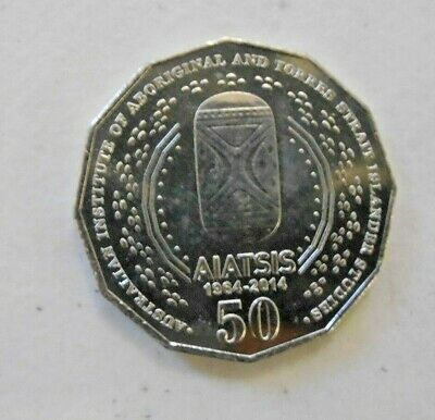 "2014 50 cent 50c coin "" AIATSIS "" COMMEMORATIVE COIN"