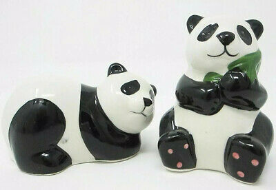 Collectable Novelty Panda Salt & Pepper Shakers - New in Box.
