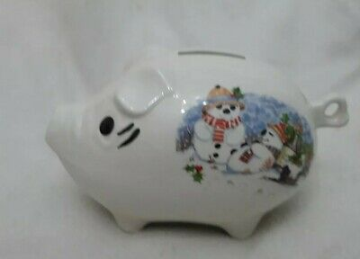 Royal Park Fine Earthenware Pig, Piggy Bank.  Xmas Theme.