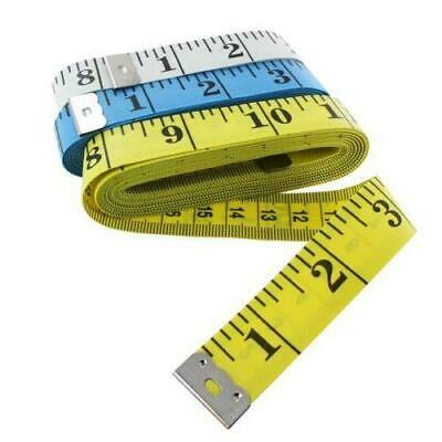 "White Body Measuring Ruler Sewing Tailor Tape Measure Soft Flat 60"" /150cm"