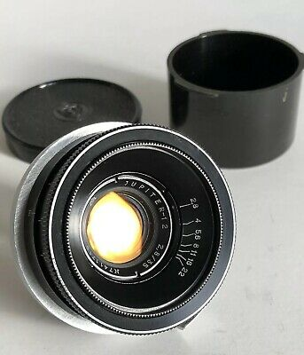 VINTAGE SOVIET JUPITER-12 LENS 2.8/35 Black 7411719 End Caps VGC Russian USSR