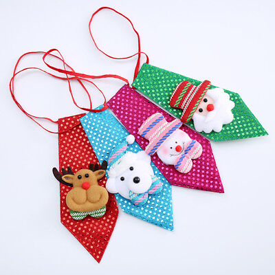HOT Dog Cat Grooming Bow Tie For Christmas XMAS Party Necktie Adjustable Bow Tie