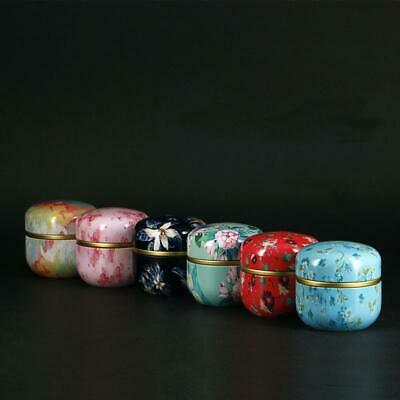 Japanese Style Candle Tea Candy Can Container Metal Tin Storage Box Exquisite