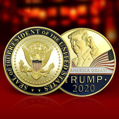US President Trump 2020 Speech Crafts Metal Commemorative Coin Medal Collection!