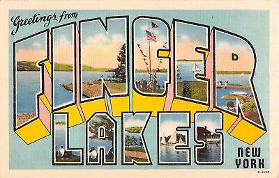 Large Letter postcard Greetings from Finger Lakes New York NY