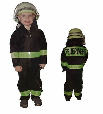 Fireman Costume with Helmet for Children Various Sizes Fire Department Carnival