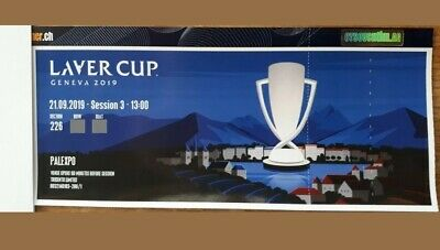Laver Cup 2019 Ticket Genf 21.09.2019 Tennis / Block 226 - Session 3, 13 Uhr
