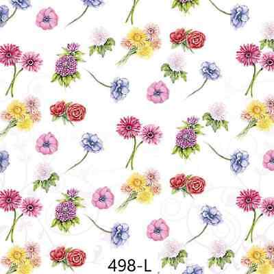 TWO New Paper Luncheon Decoupage Napkins - FLOWER, FLOWERS, ROSE, ROSES, (498)