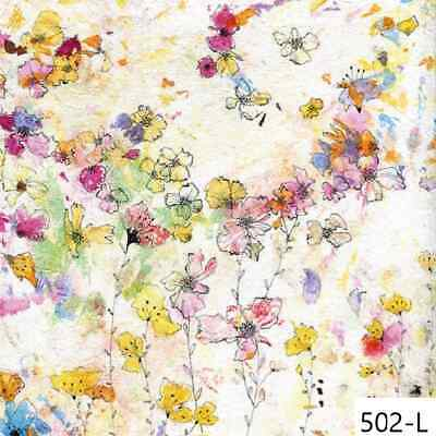 TWO New Paper Luncheon Decoupage Napkins - WATERCOLOR, FLOWERS, FLORAL, (502)