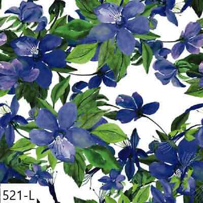 TWO New Paper Luncheon Decoupage Napkins - FLOWERS, FLOWER, CLEMATIS, (521)