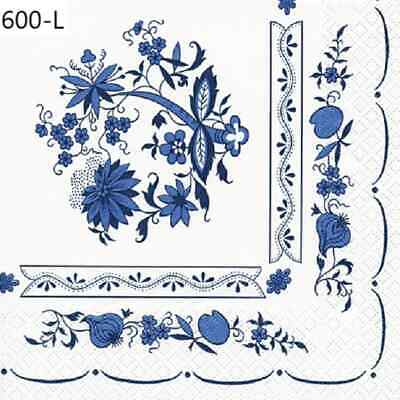 TWO New Paper Luncheon Decoupage Napkins - FLOWERS, ONIONS, DESIGN, FLOWER (600)