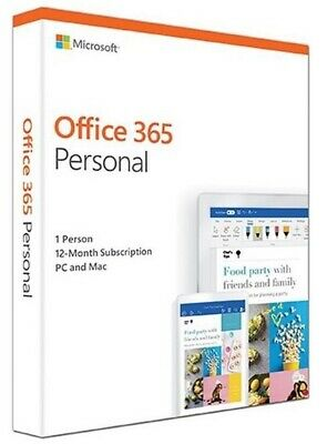 **Sealed** Microsoft Office 365 Personal Subscription For 1 Year Brand New