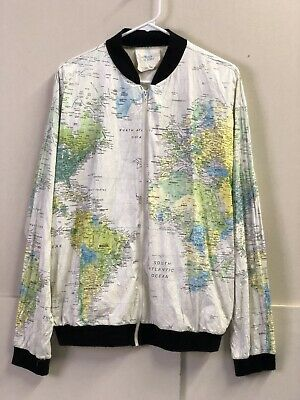 VTG WEARIN THE World Tyvek Map Jacket Rare Cobain 80s Paper ...