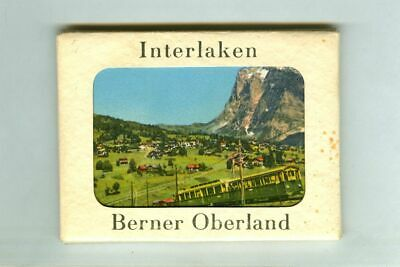 Vintage INTERLAKEN Berner Oberland SWITZERLAND Souvenir Folder! Swiss Photo Set!