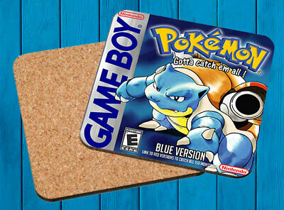 Pokemon Blue Azul Nintendo Game Boy Posavasos Madera Wooden Coasters