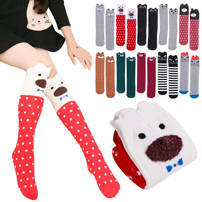 Lovely Cotton Child Socks Knee Baby Toddler Socks Cute Cartoon Animal Kids Socks