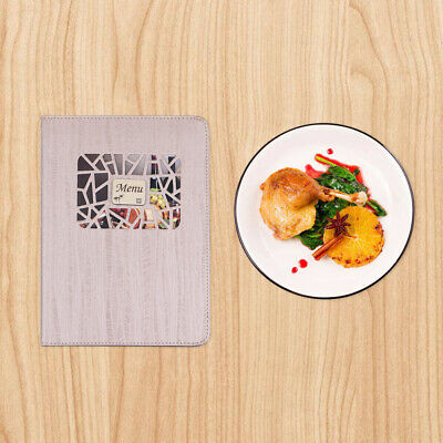 1pc Western-style Upscale 8 Pages 16 View Decorative Menu Cover for Restaurants