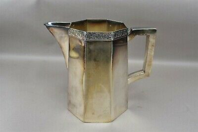 Colonial Silver Plate Pitcher Sheffield Reproduction Nickel 559 Leaves Trim