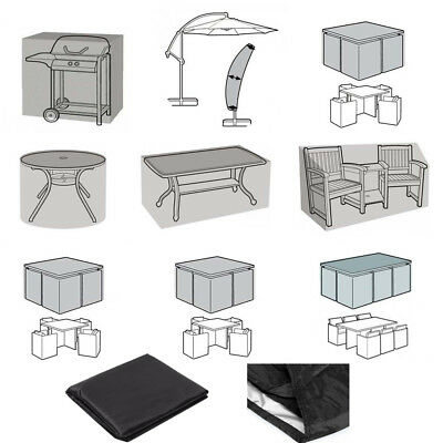 Black Waterproof Patio Furniture Covers for Outdoor Garden Rattan Table/Chiminea