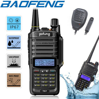 Baofeng IP67 Waterproof Walkie Talkie Dual Band Two Way FM Radio + Speaker Mic