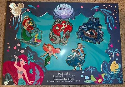 D23 Expo 2019 Little Mermaid 30th Anniversary Ariel Pin Set + Bonus !!
