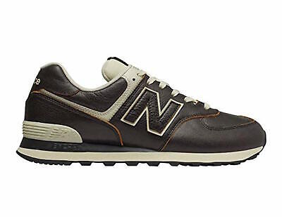 New Balance 574 Uomo Scarpa In Pelle Marrone Sneakers Da Ginnastica ML574LPK