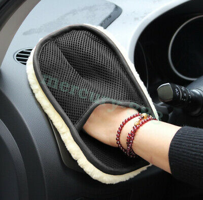 Car imitation wool gloves winter cleaning car waxing cleaning maintenance tools
