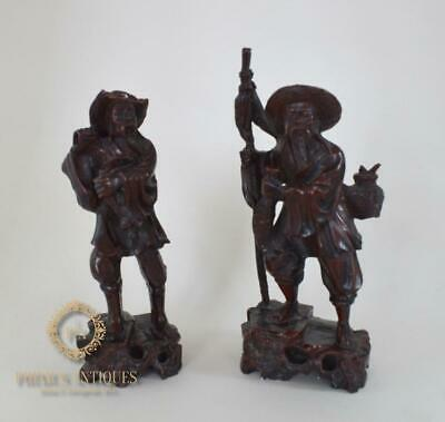 A Pair Of Chinese Resin Fisherman Figures